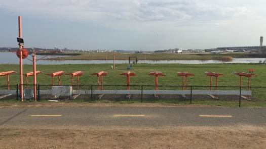 Planes taking off at Ronald Reagan National Airport