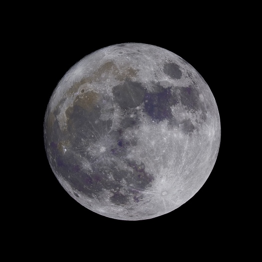 The moon closeup